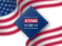 Veterans Day greeting card. royalty free stock images