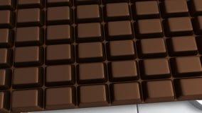 3D Badkamersschaal - Chocolade stock illustratie