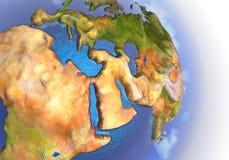 3d bak stjärnor för avstånd för framförandet för kvalitet för planet för modern för jordeurasia höga exponering Arkivbild