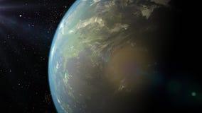 3d bak stjärnor för avstånd för framförandet för kvalitet för planet för modern för jordeurasia höga exponering stock video
