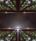 3D bakgrund - Glass fantasi Royaltyfria Bilder