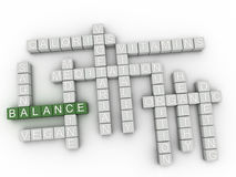 3d Balance Concept word cloud.  Royalty Free Stock Image