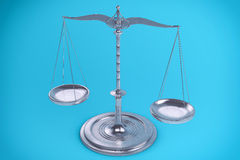 3D  Balance or scale Background for measure. Justice, law or decisions concept Stock Images