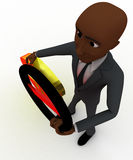 3d bald head  man dollar sign and stop symbol concept Royalty Free Stock Photo