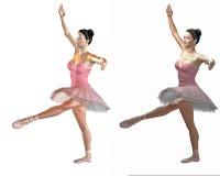 3d baletniczy tancerze Zdjęcia Royalty Free