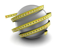 3d ball measure Royalty Free Stock Images