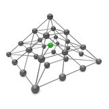 3D ball pyramid. Showing the structure of a molecular structure of two atoms Royalty Free Stock Images