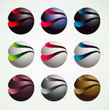 3D Ball Symbol Graphic objects, luxury and modern style Royalty Free Stock Images