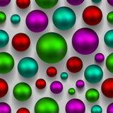 3d ballen kleurrijke naadloze achtergrond Groene, roze, purpere kleur Stock Afbeelding