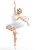 3D ballerina met vleugels Royalty-vrije Stock Foto's