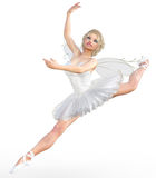 3D ballerina met vleugels Stock Afbeeldingen