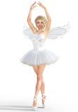 3D ballerina met vleugels Royalty-vrije Stock Afbeeldingen