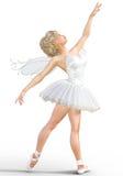 3D ballerina met vleugels Royalty-vrije Stock Afbeelding