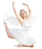 3D ballerina met vleugels Stock Afbeelding