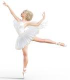 3D ballerina met vleugels Royalty-vrije Stock Foto