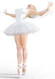 3D ballerina with wings. Stock Image