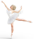 3D ballerina with wings. Royalty Free Stock Photo