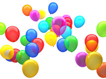 3d ballons. 3d image of colorful 3d ballons Royalty Free Stock Image