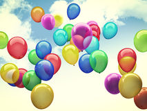 3d ballons. 3d image of colorful 3d ballons Stock Image
