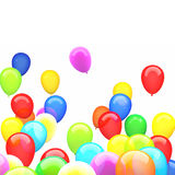 3d ballons. 3d image of flying ballons Stock Photography