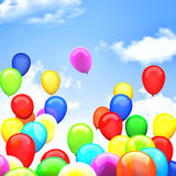 3d ballons. 3d image of flying ballons Royalty Free Stock Images