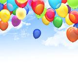 3d ballons. 3d image of flying ballons Royalty Free Stock Photography