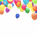 3d ballons. 3d image of flying ballons Stock Photo