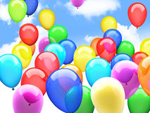 3d ballons. 3d image of flying ballons Stock Images