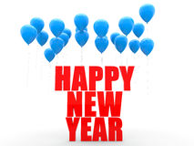 3d balloons with happy new year text Royalty Free Stock Photography
