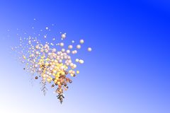 3D balloons illustration flying on the blue sky. Bubbles illustration Royalty Free Stock Image