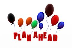 3d balloons plan head Royalty Free Stock Images