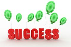 3d balloons Success Concept Royalty Free Stock Image