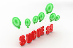 3d balloons Success Concept Stock Photo