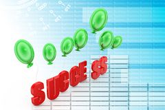 3d balloons Success Illustration Royalty Free Stock Images