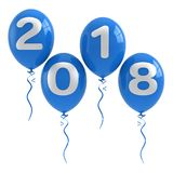 Balloons with text 2018 Royalty Free Stock Images