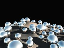 3D balls. Abstract background of 3d balls Stock Photo