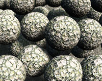 3D Balls. Abstract background of 3d figures Royalty Free Stock Image