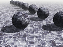 3D Balls. Abstract background of 3d figures Stock Photos