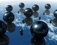 3D Balls. Abstract background of 3d figures Royalty Free Stock Photo