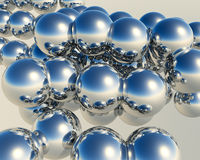 3D Balls. Abstract background of 3d figures Stock Image