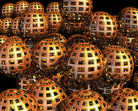 3D Balls. Abstract background of 3d figures Royalty Free Stock Photos