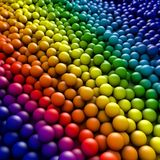 3d balls. 3d composition of different balls Royalty Free Stock Images
