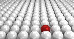 3d balls. 3d red sphere abstract leadership Stock Photography