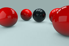 3D Balls. With relections and shadows vector illustration