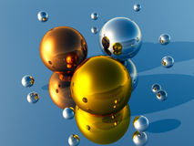 3D Balls Stock Photography