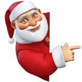3d bande dessinée Santa Image stock