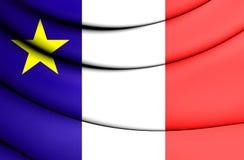 3D bandeira do Acadia, Canadá Fotos de Stock