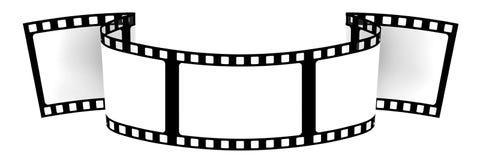 3d: Bandera en blanco de la película Fotos de archivo