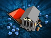 3d bank Obrazy Stock