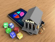 3d bank Fotografia Stock